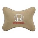 Подушка на подголовник алькантара Beige HONDA