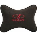 Подушка на подголовник алькантара Coffee (красная) LADA