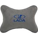 Подушка на подголовник алькантара L.Grey (синяя) LADA