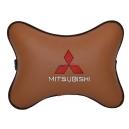 Подушка на подголовник экокожа Fox MITSUBISHI