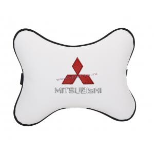 Подушка на подголовник экокожа Milk MITSUBISHI