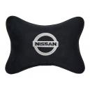 Подушка на подголовник алькантара Black NISSAN