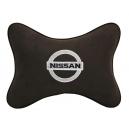 Подушка на подголовник алькантара Coffee NISSAN