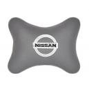 Подушка на подголовник экокожа L.Grey NISSAN