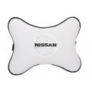 Подушка на подголовник экокожа Milk NISSAN