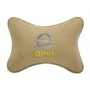 Подушка на подголовник алькантара Beige OPEL
