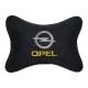 Подушка на подголовник алькантара Black OPEL