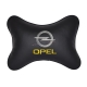 Подушка на подголовник экокожа Black OPEL