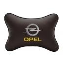 Подушка на подголовник экокожа Coffee OPEL