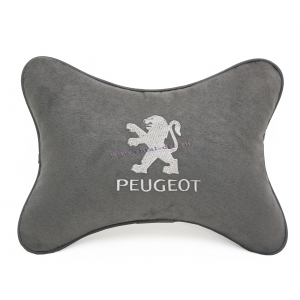 Подушка на подголовник алькантара L.Grey (белая) PEUGEOT