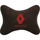 Подушка на подголовник алькантара Coffee (красная) RENAULT