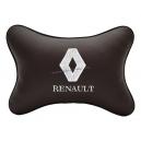 Подушка на подголовник экокожа Coffee (белая) RENAULT
