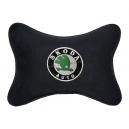 Подушка на подголовник алькантара Black SKODA