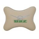Подушка на подголовник экокожа Beige UAZ