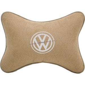 Подушка на подголовник алькантара Beige (белая) VW