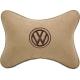 Подушка на подголовник алькантара Beige (коричневая) VW