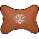 Подушка на подголовник экокожа Fox (белая) VW