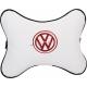 Подушка на подголовник экокожа Milk (красная) VW