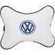 Подушка на подголовник экокожа Milk (синяя) VW