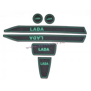 Комплект силиконовых ковриков  Lada Kalina 2