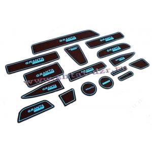 Комплект силиконовых ковриков в ниши Lada Granta (16 шт.)