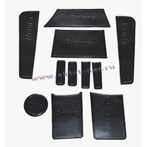 Коврик на приборную панель ВАЗ 2170 Приора (Черный 11 шт.)