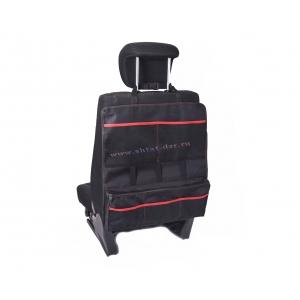 Органайзер на спинку сиденья, с красной отстрочкой, размер 550*500мм