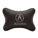 Подушка на подголовник экокожа Coffe ACURA