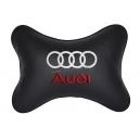 Подушка на подголовник экокожа Black AUDI