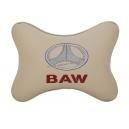 Подушка на подголовник экокожа Beige BAW