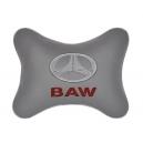 Подушка на подголовник экокожа L.Grey BAW
