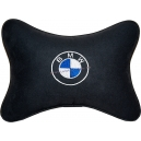 Подушка на подголовник алькантара Black BMW