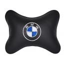 Подушка на подголовник экокожа Black BMW