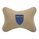 Подушка на подголовник алькантара Beige DACIA