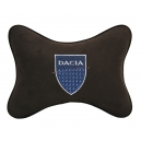 Подушка на подголовник алькантара Coffee DACIA