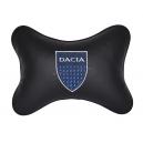 Подушка на подголовник экокожа Black DACIA