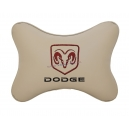 Подушка на подголовник экокожа Beige DODGE