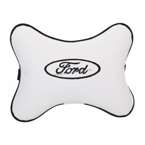 Подушка на подголовник экокожа Milk (черная) FORD