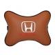 Подушка на подголовник экокожа Fox HONDA