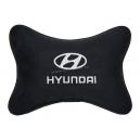 Подушка на подголовник алькантара Black (белая) HYUNDAI