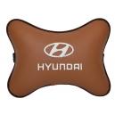 Подушка на подголовник экокожа Fox (белая) HYUNDAI