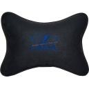 Подушка на подголовник алькантара Black (синяя) LADA