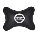 Подушка на подголовник экокожа Black NISSAN