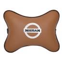 Подушка на подголовник экокожа Fox NISSAN