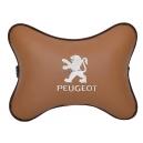 Подушка на подголовник экокожа Fox (белая) PEUGEOT