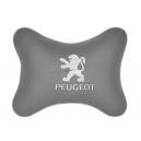 Подушка на подголовник экокожа L.Grey (белая) PEUGEOT