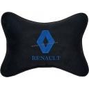 Подушка на подголовник алькантара Black (синяя) RENAULT