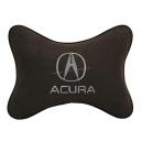 Подушка на подголовник алькантара Coffee ACURA