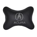 Подушка на подголовник экокожа Black ACURA