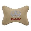 Подушка на подголовник алькантара Beige BAW